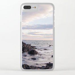 Maine Sunset Clear iPhone Case