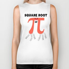 Square Root Of PI Day 2019 Math Teacher Biker Tank
