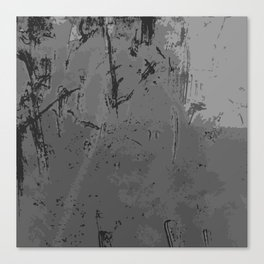 Decay Pattern, Grey/Silver Rust Canvas Print