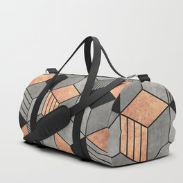 Concrete and Copper Cubes 2 Duffle Bag
