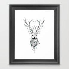 Poetic Deer Framed Art Print