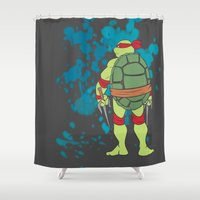 tmnt Shower Curtains featuring Raphael - TMNT by Roe Mesquita