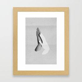 Minimal Hands 002B Framed Art Print