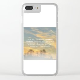 Sun and Shield Clear iPhone Case