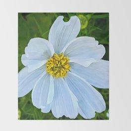 Hummingbird White (Digital Art) Throw Blanket