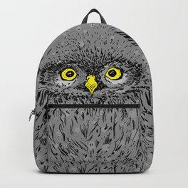 Fluffy baby owl staring eyes Backpack