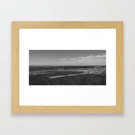 Barge Through The Mississip Framed Art Print