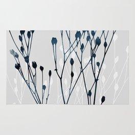 Watercolor Leaves 12 Rug