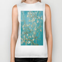 Vincent Van Gogh's Branches of an Almond Tree in Blossom Biker Tank