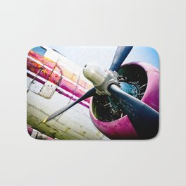 C160 Military Transport Airplane Bath Mat