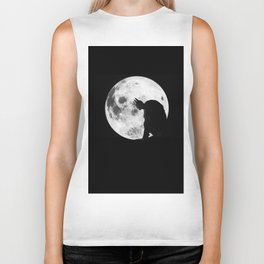 The Bat in the Pale Moonlight Biker Tank