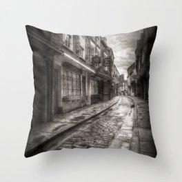 Ghostly Shambles York Vintage Throw Pillow