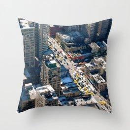 New York Life Throw Pillow