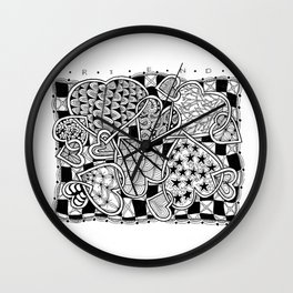Zentangle Friends Come in All Sizes and Shapes Wall Clock