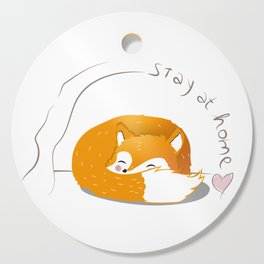 stay at home fox Cutting Board