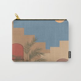 Travelling. Abstract boho vintage travel and vacation theme art print Carry-All Pouch
