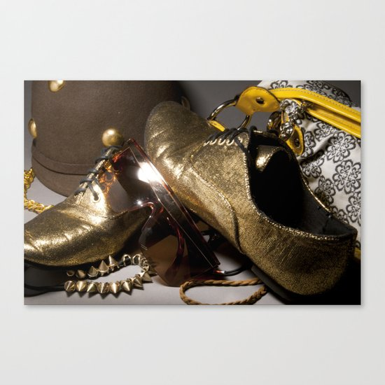 Shoe ad composition 1 Canvas Print