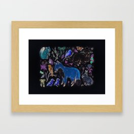 Trying to Be Happy a Lot of the Time Framed Art Print