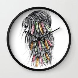 GIRLZ - FEATHER Wall Clock