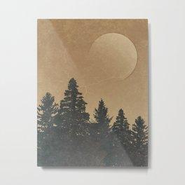 Wild Pines: Rustic Outdoor Landscape Metal Print