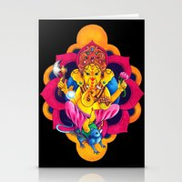 ganesh Stationery Cards featuring Ganesh by missfortunetattoo