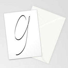 """ Singles Collection "" - One Line Minimal Number Nine Print Stationery Cards"