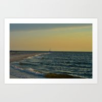 sailboat Art Prints featuring Sailboat by Damn_Que_Mala