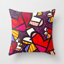 pop art love Throw Pillow