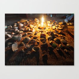 Coastal Candlelight Canvas Print