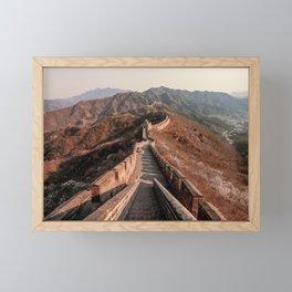The Great Wall Of China  Framed Mini Art Print