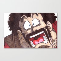 satan Canvas Prints featuring Mr. Satan by DeMoose_Art