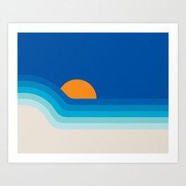 Ocean Dipper Art Print