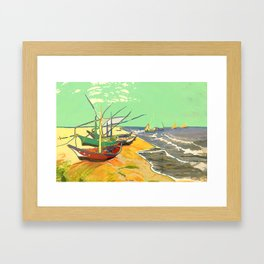 Fishing boats Framed Art Print
