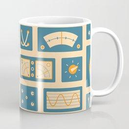 Mission Control - Peach & Blue Coffee Mug