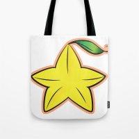 kingdom hearts Tote Bags featuring Paopu Fruit : Kingdom Hearts by Katie Nichols