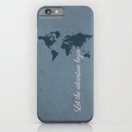 Let the adventure begin iPhone Case