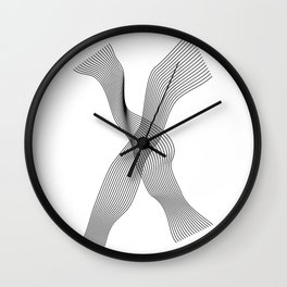 """Linear Collection"" - Minimal Letter X Print Wall Clock"