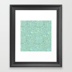 Wacky Pattern Framed Art Print