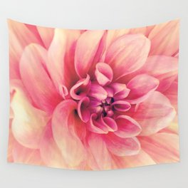 Her Smile (Spring Blooming Rose Pink Dahlia) Wall Tapestry