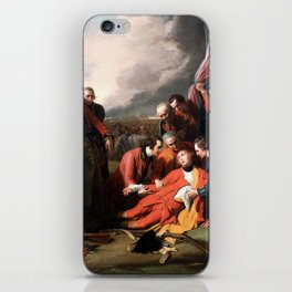 Death of General James Wolfe Oil Painting by Benjamin West iPhone Skin
