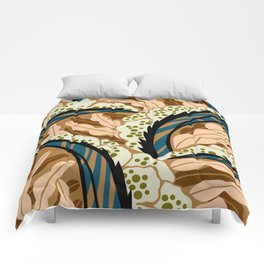 BALINESIA: BIG SKY RANCH, Art Deco Tropical Comforters