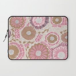 Pink & Gold Flowers Laptop Sleeve