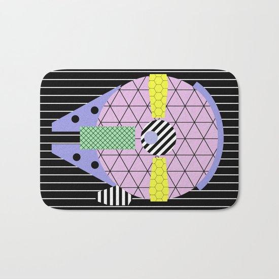 Millennium Falcon Geometric Style - Pastel, abstract design Bath Mat