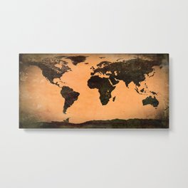 Abstract Earth Science Map Metal Print