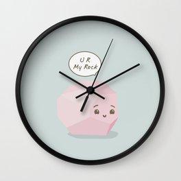 U R My Rock (pink) Wall Clock