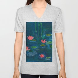 The Water Lilies Unisex V-Neck