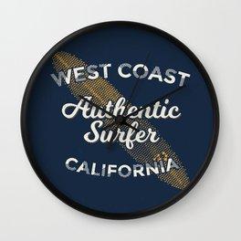 West coast California Surf Wall Clock