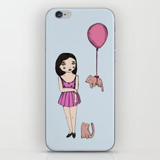 The cat balloon iPhone Skin