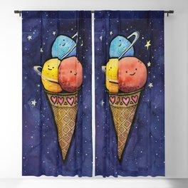 Space Ice Cream Cone Blackout Curtain