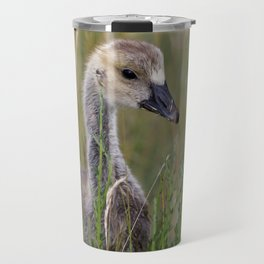 Baby Goose in the Wetland Travel Mug